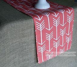 Coral Table Runner Arrow Dining Kitchen Home Decor Linens Ta