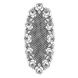 Heritage Lace Cottage Rose 14-Inch by 34-Inch Runner, Ecru