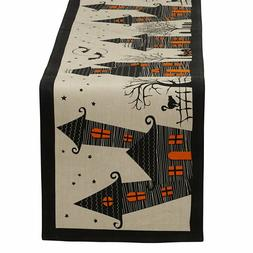 DII Cotton 14x72 Table Runner and Place Mats-Napkins Hallowe