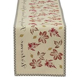 "DII 14x72"" Cotton Table Runner, Rustic Leaves - Perfect for"