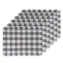 DII Woven Cotton Placemat with Decorative Fringe for Spring,