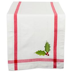 DII 100% Cotton, Machine Washable, Table Runner For Dinner P