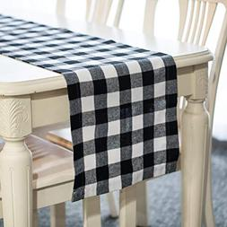 Wemay Cotton Buffalo Check Table Runner for Family Dinners o