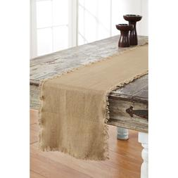 Cotton Burlap Table Runner Choice of 4 Sizes