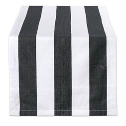 DII Black & White/18x108 Table Runner, 18x108 White