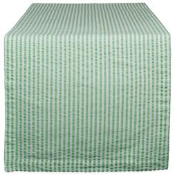DII Cotton Seersucker Striped Table Runner for Dinning Room,