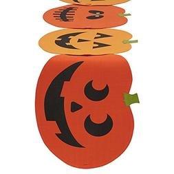 "DII 14x72"" Cotton Table Runner, Jack O' Lantern - Perfect fo"