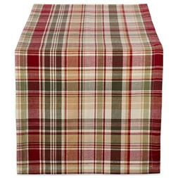 DII Cabin Plaid 100% Cotton Table Runner