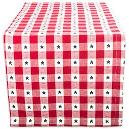 DII Cotton Table Runner for Independence Day, July 4th Party