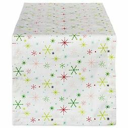 "DII 14x108"" Cotton Table Runner, Christmas Stars - Perfect f"