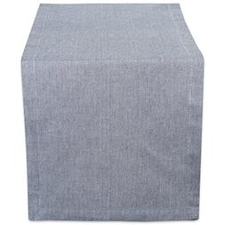 DII 14X108 Cotton Table Runner, Chambray Blue - Perfect for