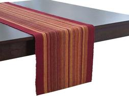 Elrene Home Fashions Cotton Table Runner Casual Classic Stri