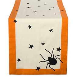"DII 14x72"" Cotton Table Runner, Black stars - Perfect for Ha"