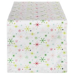 """DII 14x108"""" Cotton Table Runner, Christmas Stars - Perfect f"""