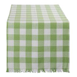 DII Cotton Woven Heavyweight Table Runner with Decorative Fr