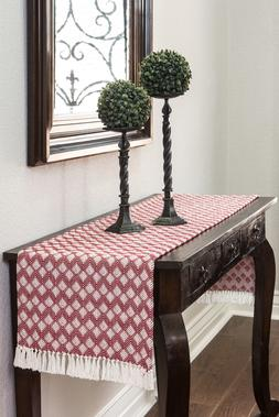 cotton woven table runner