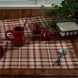COUNTRY CUMBERLAND TABLE RUNNER 13X36 IN BURGUNDY IVORY TAUP