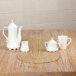 Country Farmhouse Table Runner Kitchen Dining Square Round