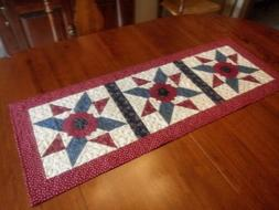 Country/Patriotic-Quilted-Star Spangled Dresdens-Table Runne