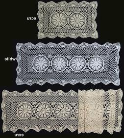 "Crochet Lace Placemat Table Runner 14x20"",14x36"", 14x54"", 14"