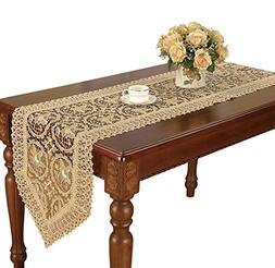 Simhomsen Super Long Beige Lace Table Runner 16 × 156 Inch