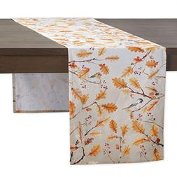 d oak leaves cotton table