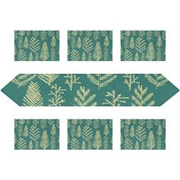 My Daily Christmas Tree Fir Pine Place Mats and Table Runner