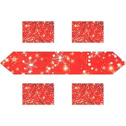 My Daily Snowflakes For Christmas Red Place Mats and Table R