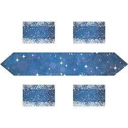 My Daily Snowflakes And Stars Place Mats and Table Runner Wa