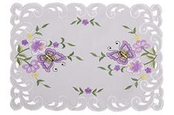 Simhomsen Decorative Butterfly and Floral Table Place Mats