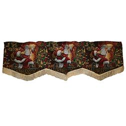 Violet Linen Decorative Christmas Tapestry Window Valance, 6