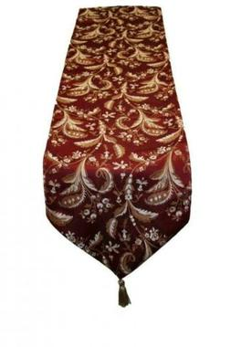 decorative luxury damask vintage design table runner