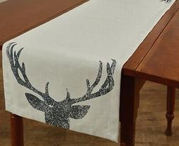 Deer Antlers Table Runner 54 Inches Cotton Kitchen or Dining