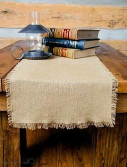 deluxe burlap natural tan runner 13x48