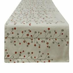 Park Design Berry Sprig Printed Table Runner 15 x 72 Inches