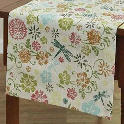 Park Design Dragonfly Floral Table Runners 2 Sizes 54 inch a
