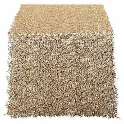 Design Imports DII Gold Sequin Mesh Table Runner Roll 16in X