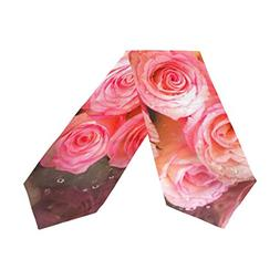 Double-Sided Happy Valentines Day with Rose Flowers Decorati