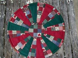 Dresden Plate Quilt Block Pattern Fabric Candle Mat Table To