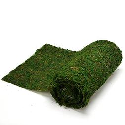 Byher Dried Moss Table Runner for Party Garden Decoration, D