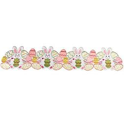 Collections Etc Easter Bunny & Eggs Table Linens, Runner