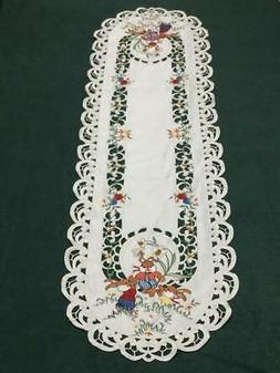 easter bunny floral embroidered cutwork 14 5