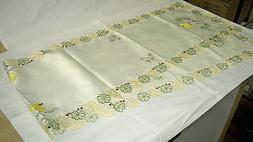 Easter Embroidered Table Runner 72 inches X 13 Inches
