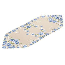 Collections Etc Elegant Pansy Floral Dresser Scarf Topper fo