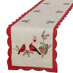 GRELUCGO Embroidered Christmas Holiday Decorative Cardinal T