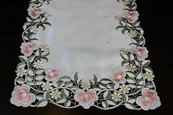 Embroidered Cutwork Lace Embroidery Placemat Table Runner We