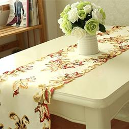 B-COOL Embroidered Cutwork Table runner for party wedding Ba