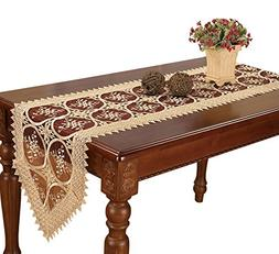 Simhomsen Embroidered Gold Table Runner and scarves Floral L