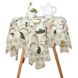 Bettery Home Embroidered Lace Table Runner Double-Layered Fa
