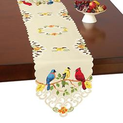 Collections Etc Embroidered Spring Table Linens, Beautiful B